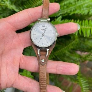 Fossil Watch w/ Silver Face
